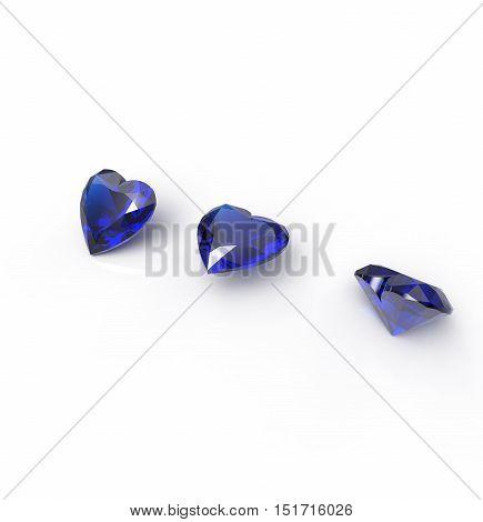 3D rendering with diamonds. Jewelry background. Fashion Jewelry.