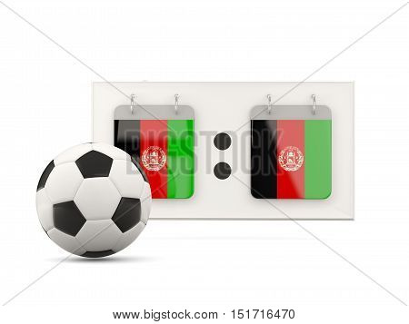 Flag Of Afghanistan, Football With Scoreboard