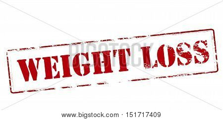 Rubber stamp with text weight loss inside vector illustration