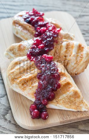 Grilled Chicken With Cranberry Sauce