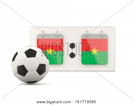 Flag Of Burkina Faso, Football With Scoreboard