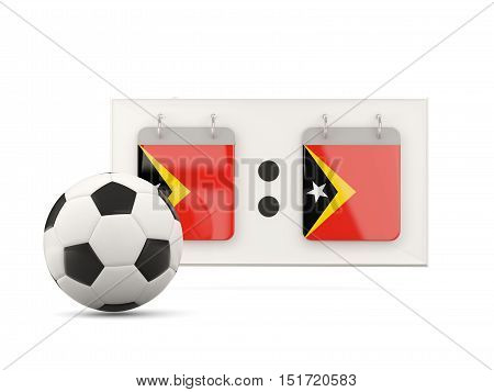 Flag Of East Timor, Football With Scoreboard