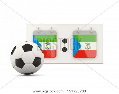 Flag Of Equatorial Guinea, Football With Scoreboard