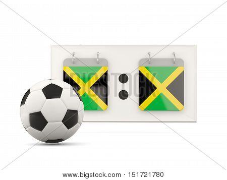 Flag Of Jamaica, Football With Scoreboard