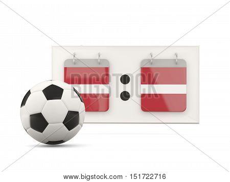Flag Of Latvia, Football With Scoreboard