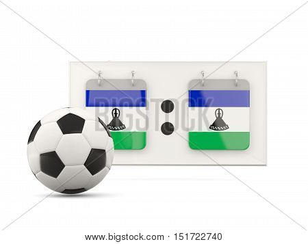 Flag Of Lesotho, Football With Scoreboard
