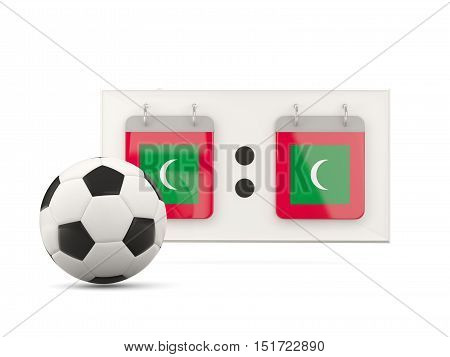Flag Of Maldives, Football With Scoreboard
