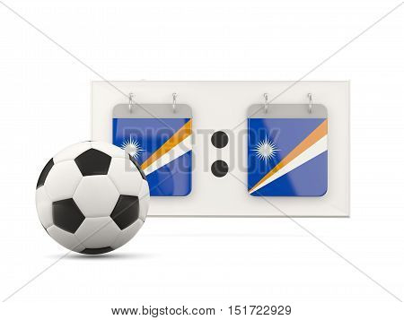 Flag Of Marshall Islands, Football With Scoreboard