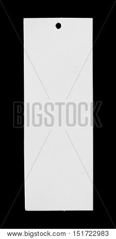 Blank price tag isolated on black , space for copy