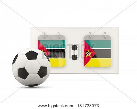 Flag Of Mozambique, Football With Scoreboard