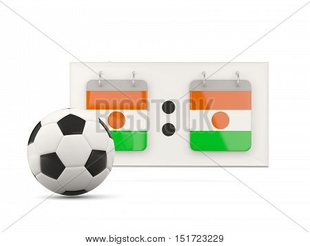 Flag Of Niger, Football With Scoreboard
