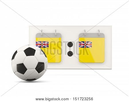 Flag Of Niue, Football With Scoreboard