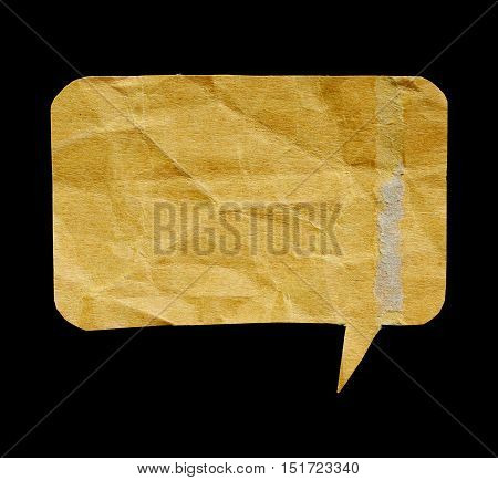 antique paper with worn edge isolated background.