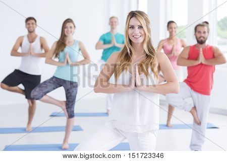 Young Men And Women During Everyday Meditation