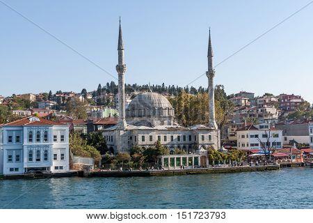 Mosque on the Bosphorus in Istambul Turkey