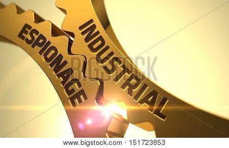 Industrial Espionage on Mechanism of Golden Cogwheels. 3D.
