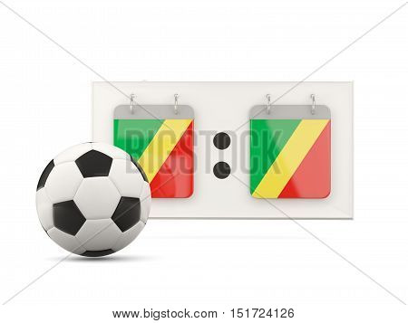 Flag Of Republic Of The Congo, Football With Scoreboard