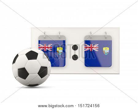 Flag Of Saint Helena, Football With Scoreboard