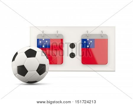 Flag Of Samoa, Football With Scoreboard