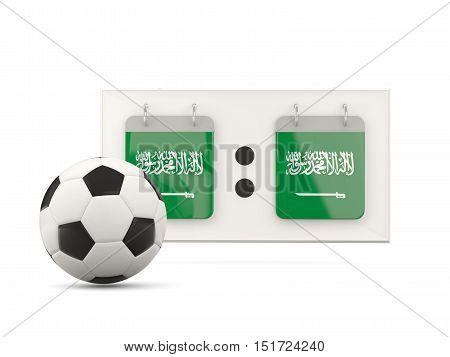 Flag Of Saudi Arabia, Football With Scoreboard