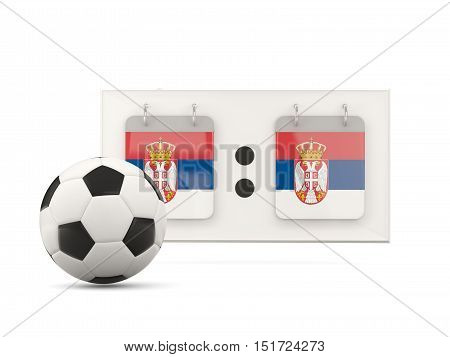 Flag Of Serbia, Football With Scoreboard