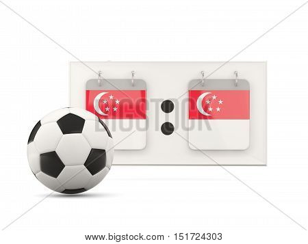 Flag Of Singapore, Football With Scoreboard