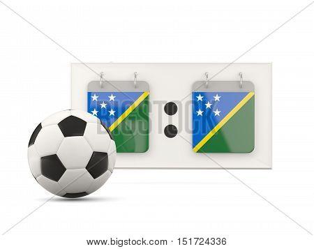 Flag Of Solomon Islands, Football With Scoreboard