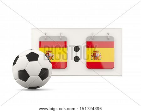 Flag Of Spain, Football With Scoreboard