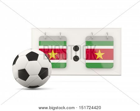 Flag Of Suriname, Football With Scoreboard
