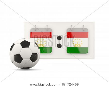 Flag Of Tajikistan, Football With Scoreboard