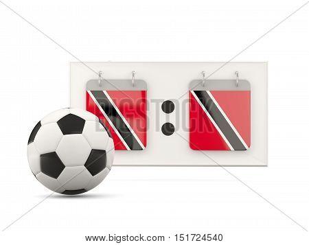 Flag Of Trinidad And Tobago, Football With Scoreboard