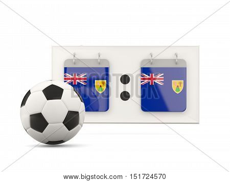 Flag Of Turks And Caicos Islands, Football With Scoreboard