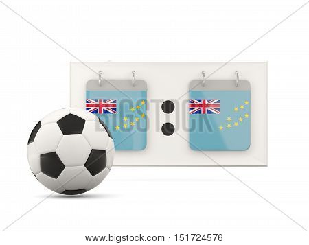 Flag Of Tuvalu, Football With Scoreboard