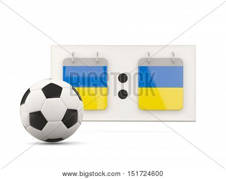 Flag Of Ukraine, Football With Scoreboard