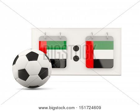 Flag Of United Arab Emirates, Football With Scoreboard