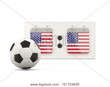 Flag Of United States Of America, Football With Scoreboard