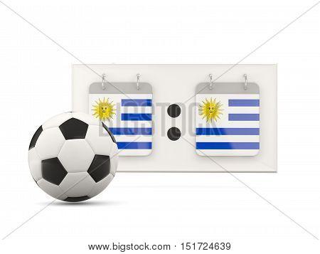 Flag Of Uruguay, Football With Scoreboard