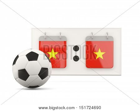 Flag Of Vietnam, Football With Scoreboard