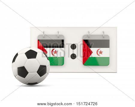 Flag Of Western Sahara, Football With Scoreboard