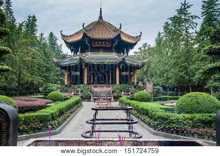 Wuhou Temple in the city of Chengdu China