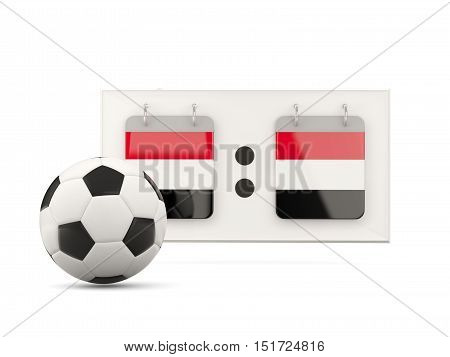 Flag Of Yemen, Football With Scoreboard