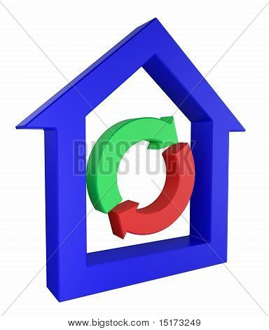 House Icon With Exchange Symbol