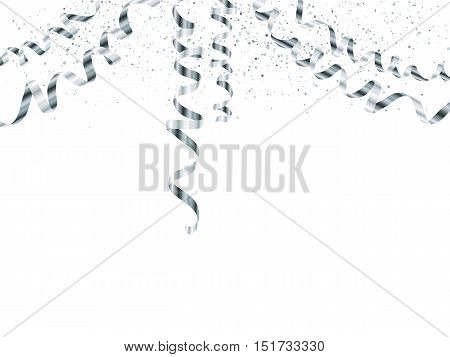 Vector silver serpentine garland isolated on white background