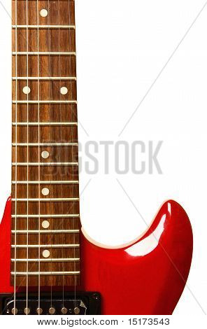 Closeup view of guitar