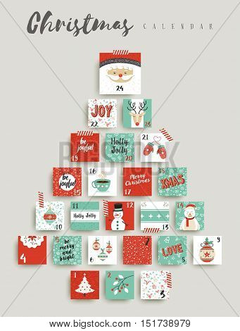 Christmas Advent Calendar Cute Ornament Decoration
