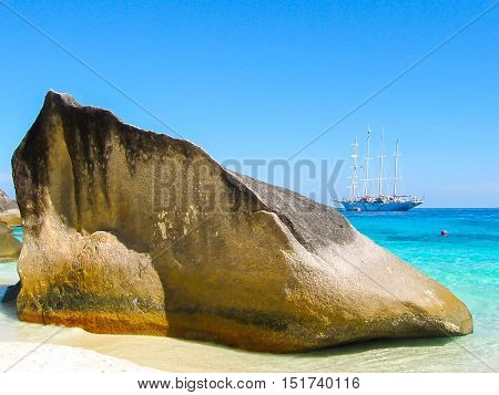 The image of the bay of Similan Islands
