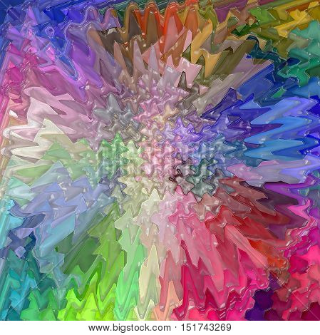 Abstract coloring background of the color harmonies gradient with visual  spherize,wave,pinch,plastic wrap,lighting and twirl effects
