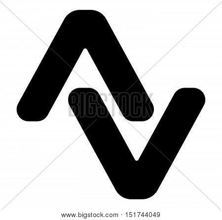 Pair Of Arrowheads. Arrow Logo, Arrow Icon With 2 Arrows.