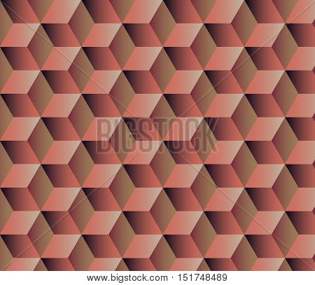 Abstract Geometric Background With Cubes
