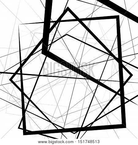 Artistic Illustration With Stressful Random, Irregular Lines. Geometric Art.